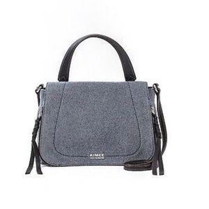 Aimee Kestenberg Denim Leather Crossbody NWT $228